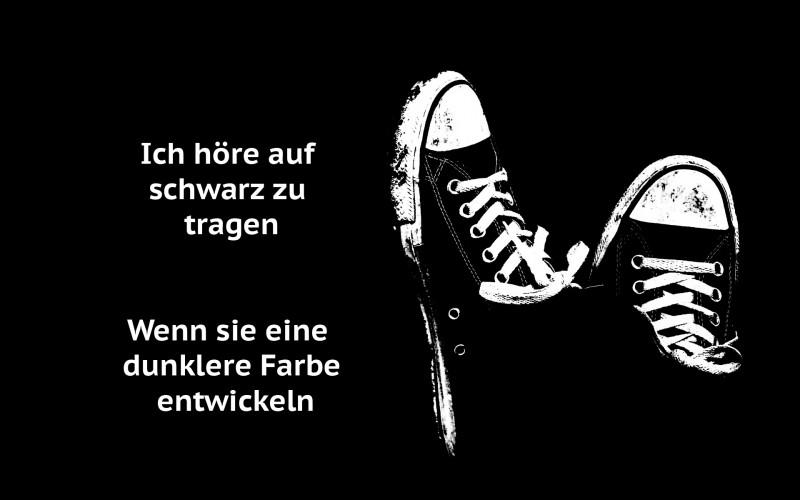 Ich höre auf schwarz zu tragen…